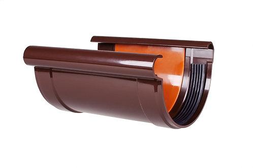 Соединитель желоба с прокладкой 130 мм