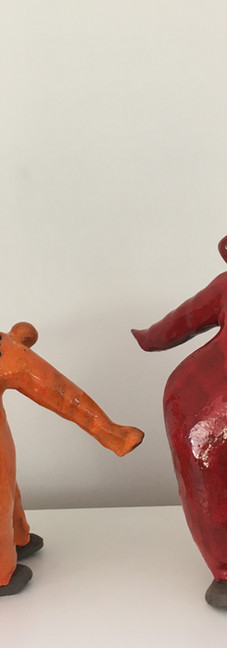 Marg'rit orange et rouge flame