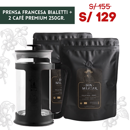 Combo: Prensa Smart 350ml +2 bolsas 250gr