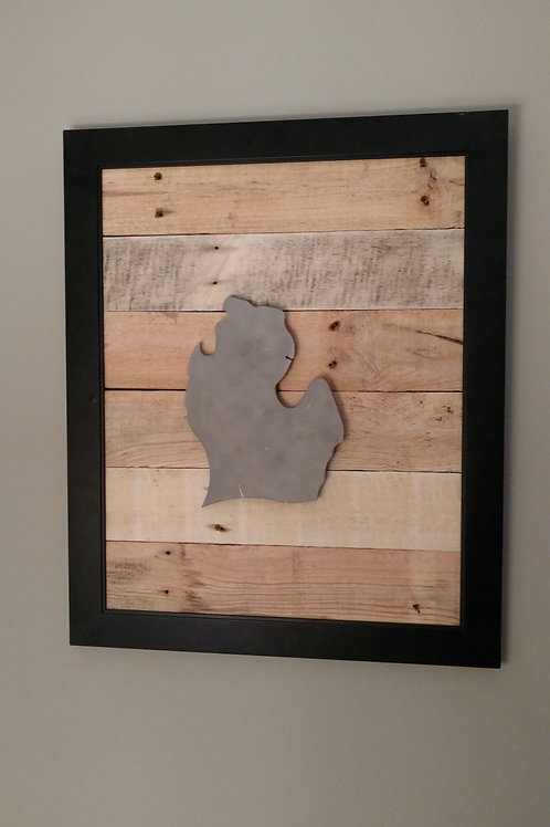 Michigan steel on pallet wood