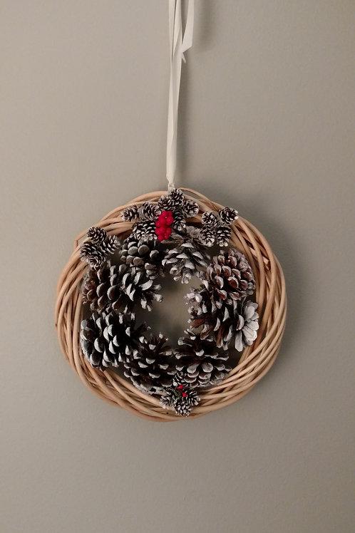 All Natural Pine Cone Wreath