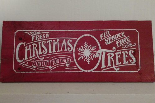 Small Christmas Trees sign