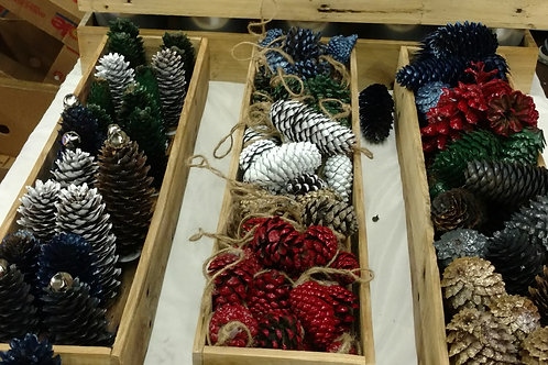 Assorted Pinecone Winter Decor