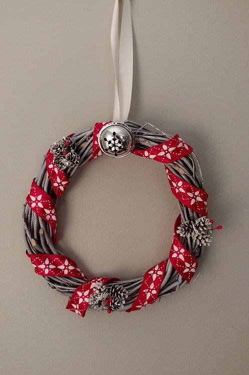 Ribbon Around the Christmas Wreath