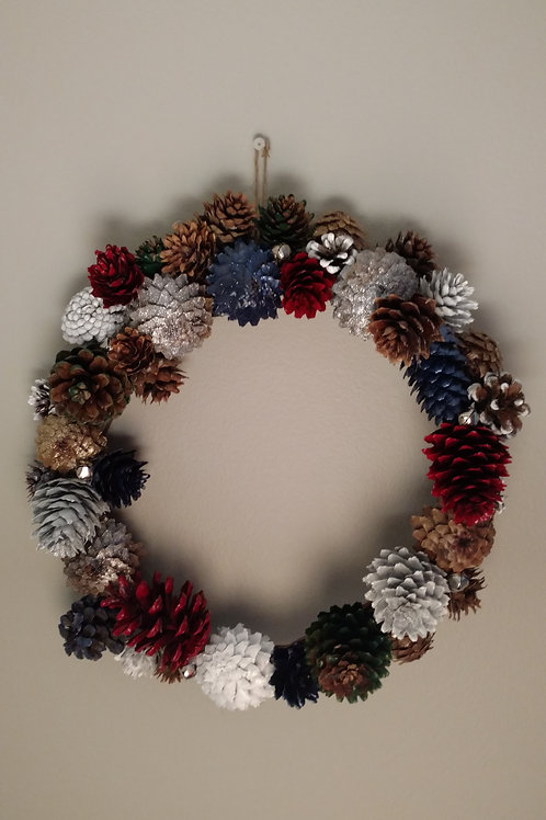 Multi Color Winter Wreath