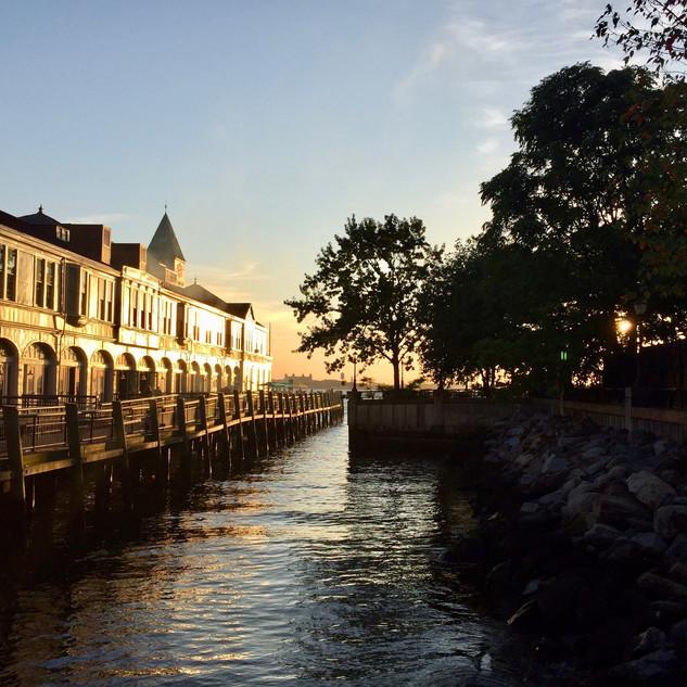 Golden Hour in Battery Park
