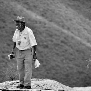 Mountain Postcard Salesman