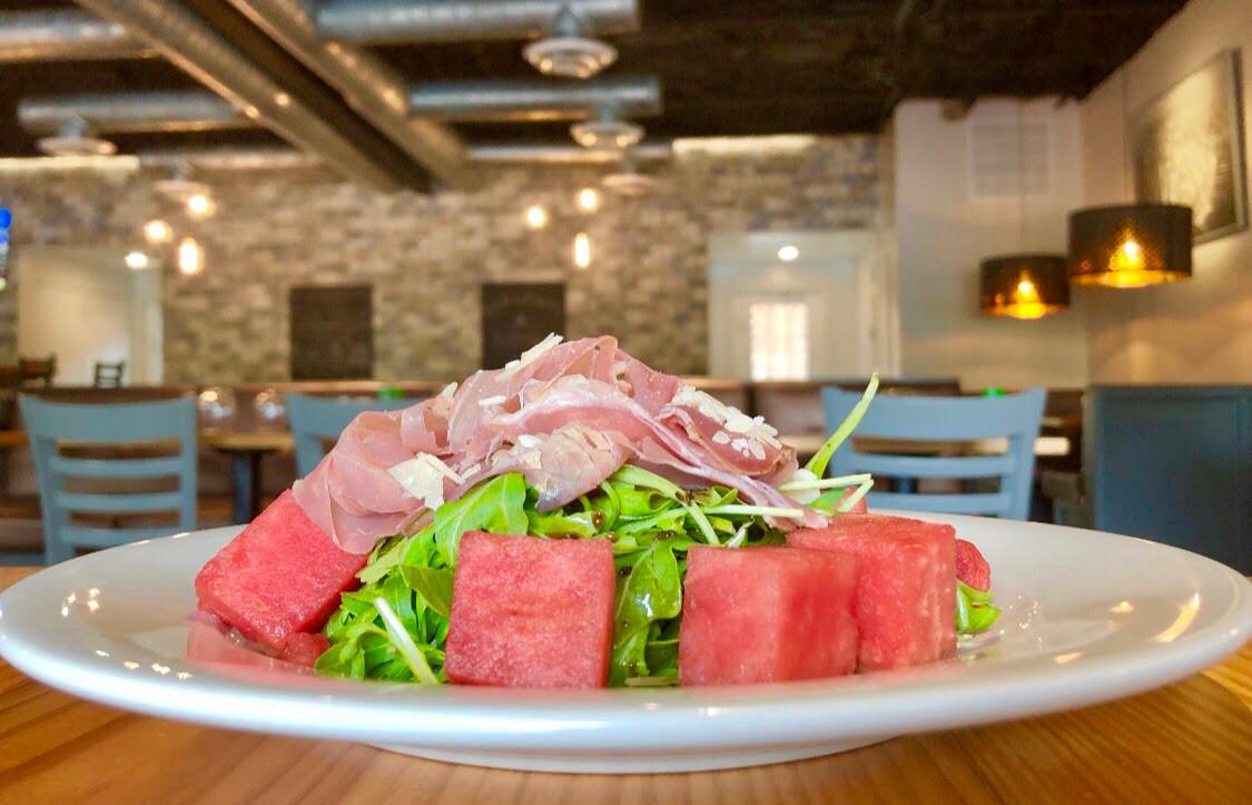 Arugula Prosciutto + Watermelon Salad
