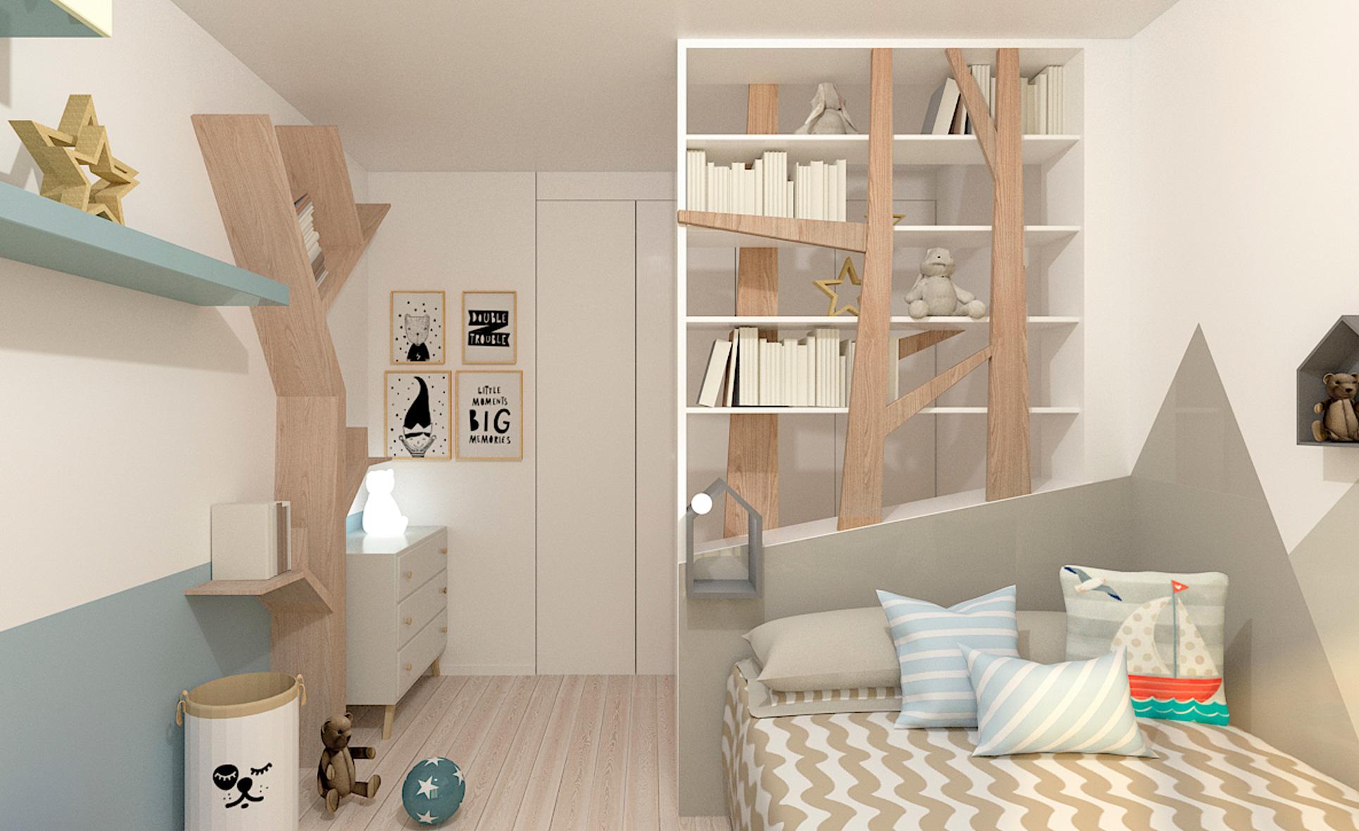 camera bambino libreria giorno