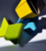 ecodesign: moduli in cartone e feltro per arredare la scrivania e creare divisori tra postazioni di lavoro in ufficio