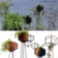fioriere in corten in fase di realizzazione in un officina. le fioriere sono elementi per la creazione di pareti verdi o giardini verticali, in casa o all'aperto.