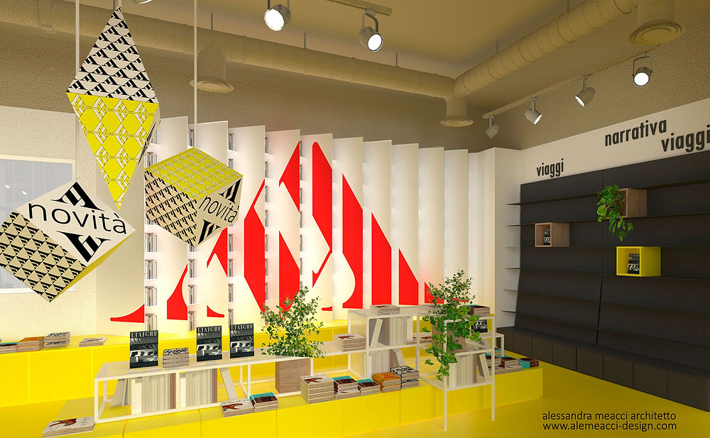 retail design: sistemi espositivi per librerie