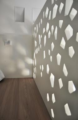 parapetto in legno di design