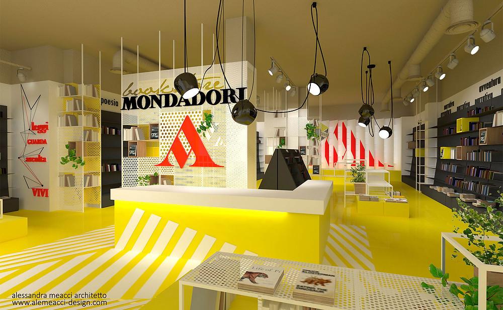 retail design: progetto di interni per librerie