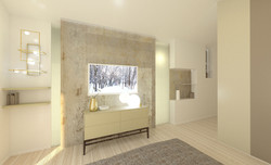 camera da letto- interni-cabina armadio-interior