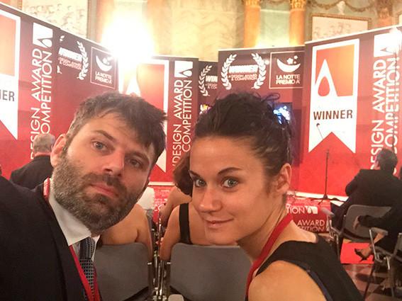 """Al galà del  concorso di Design """"A' Design Award&Competition""""sul lago di Como: aspettando la premiazione di Bolina che vince il premio nella categoria """"Furniture, Decorative Items and Homeware Design Award Category"""""""