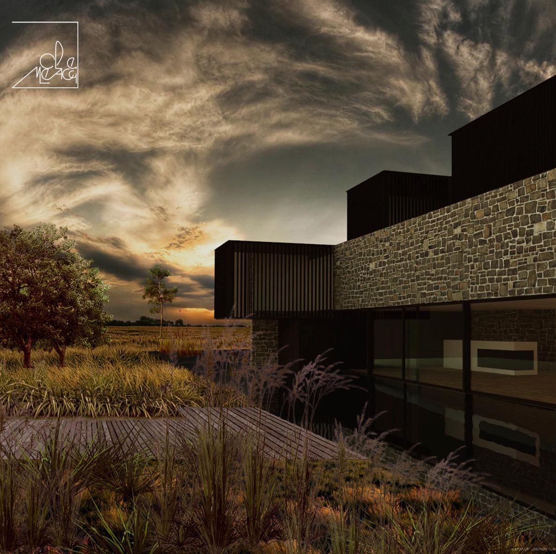 fotoinserimento di un edificio moder