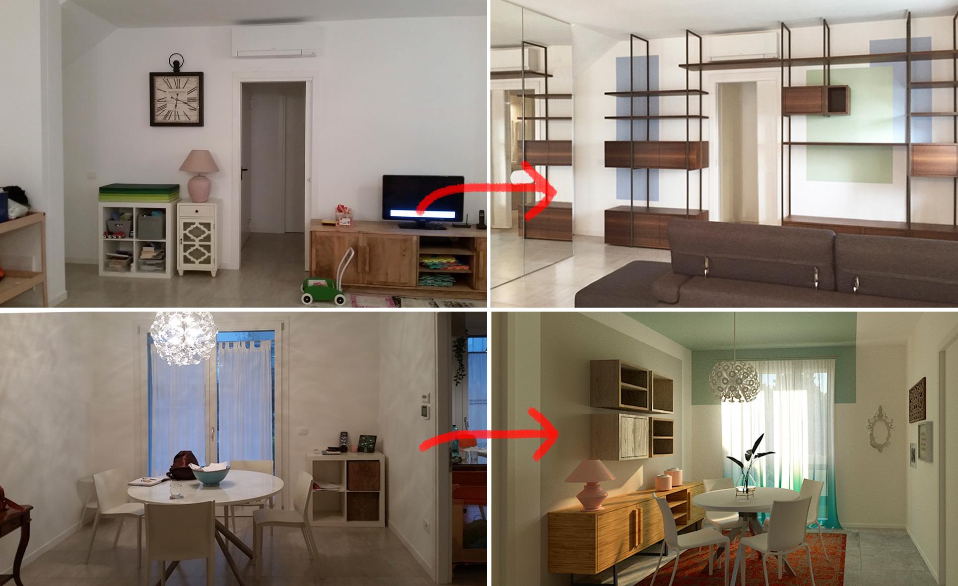prima e dopo soggiorno