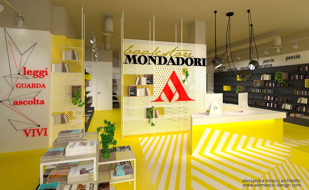 interior design: progetto di interni per librerie