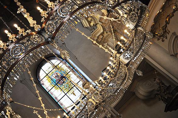 dettaglio degli interni della chiesa di San Nicola , Praga.