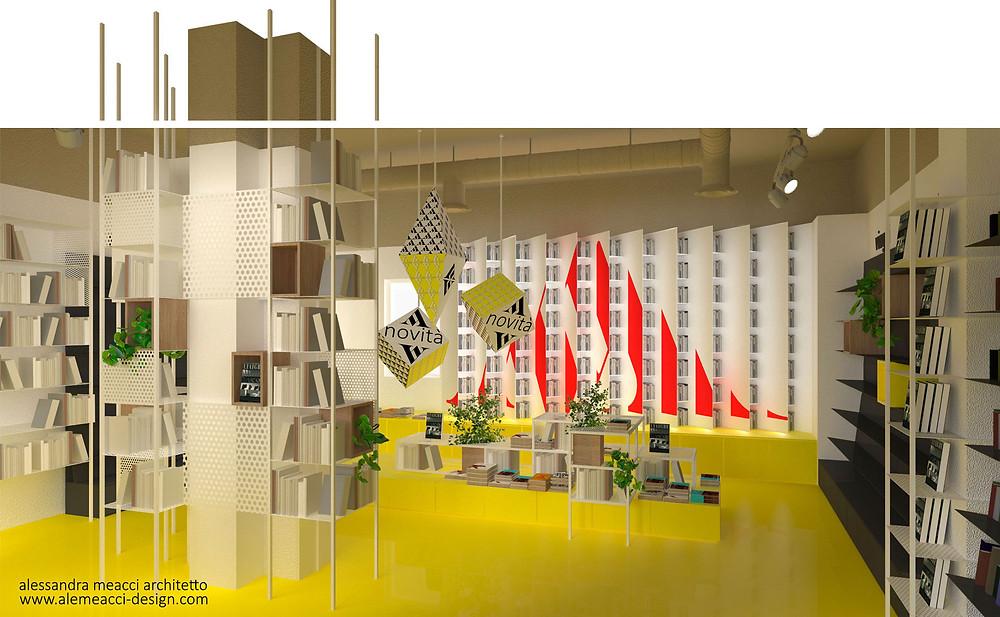 retail design: sistemi di arredo e mobili espositivi per librerie