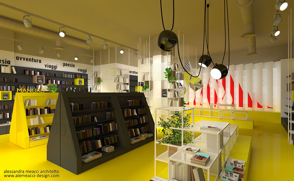 retail design: progetto di interior design per librerie