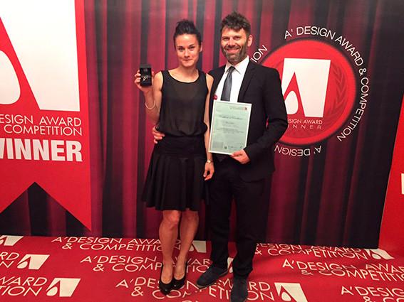 """Premiazione del concorso di Design """"A' Design Award&Competition"""" : serata di gala sul lago di Como. Bolina si aggiudica il premio nella categoria """"Furniture, Decorative Items and Homeware Design Award Category"""""""