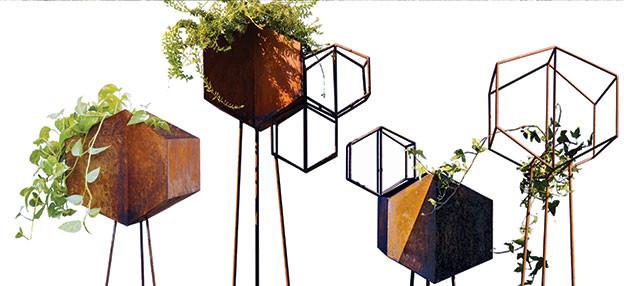 vertical garden corten design