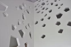 parapetto della scala per il soppalco