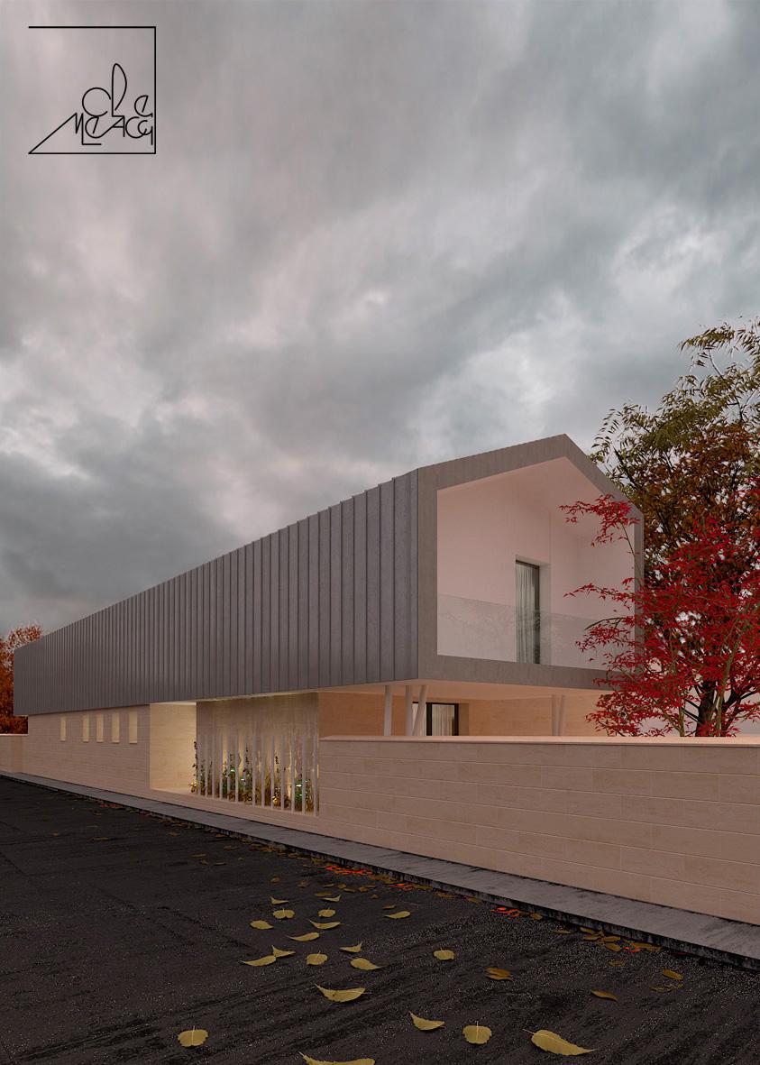 rendering di edificio moderno per ca