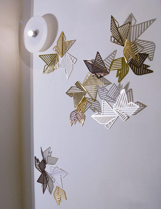 decorazioni-pareti-stile-origami