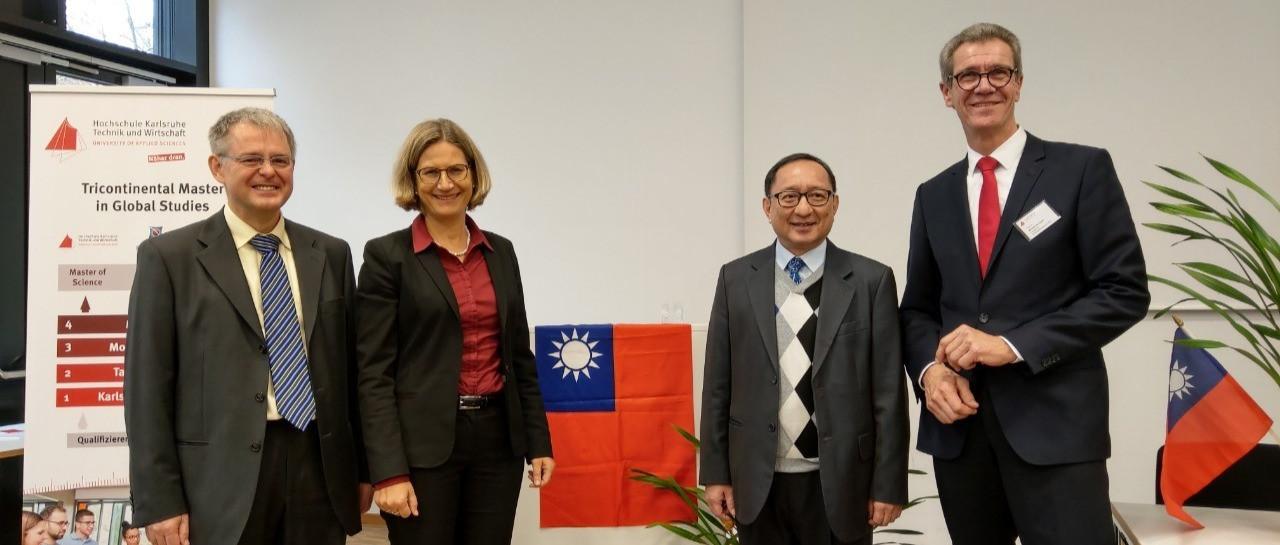 高玉泉主任成為德國HsKA第一位非德籍榮譽教授