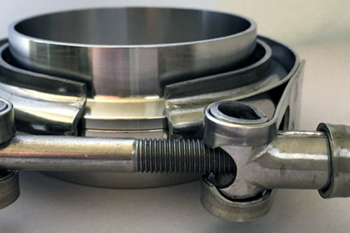 """304 Stainless Steel V-band Flanges and Clamp Set (Marmon Flange) 2.50"""""""