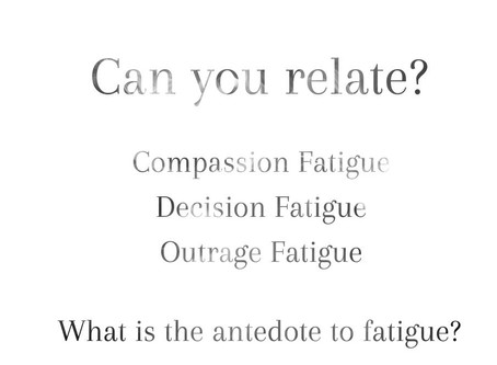 Everything Fatigue: what it is, and why and how you should take a break.
