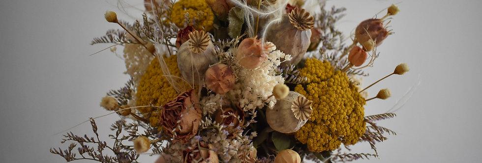 ~Mignonnerie ~ Petit Bouquet haut de fleurs séchées aux couleurs Automnale