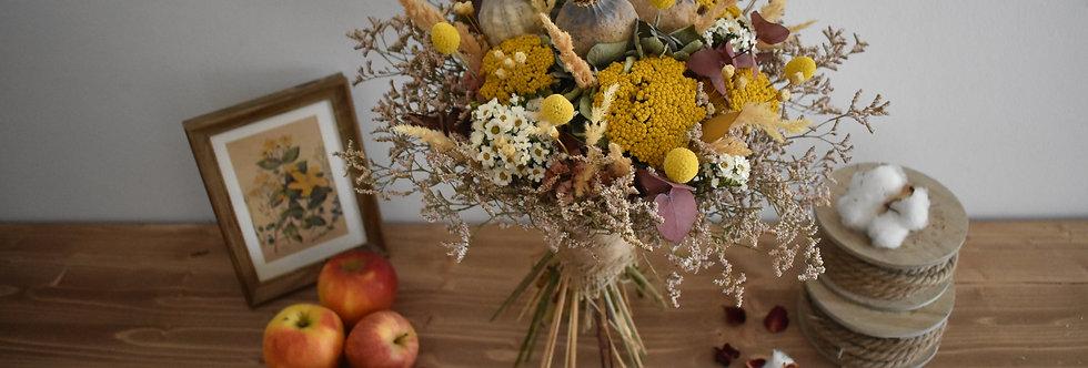 ~Automne~ Bouquet rond de fleurs séchées aux couleurs chatoyantes de l'automne