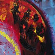 焚火を超えて溶解する、雪娘。(『ロシアの昔話≪愛蔵版≫』、内田莉莎子訳、福音館書店、1989年、P.132-133)