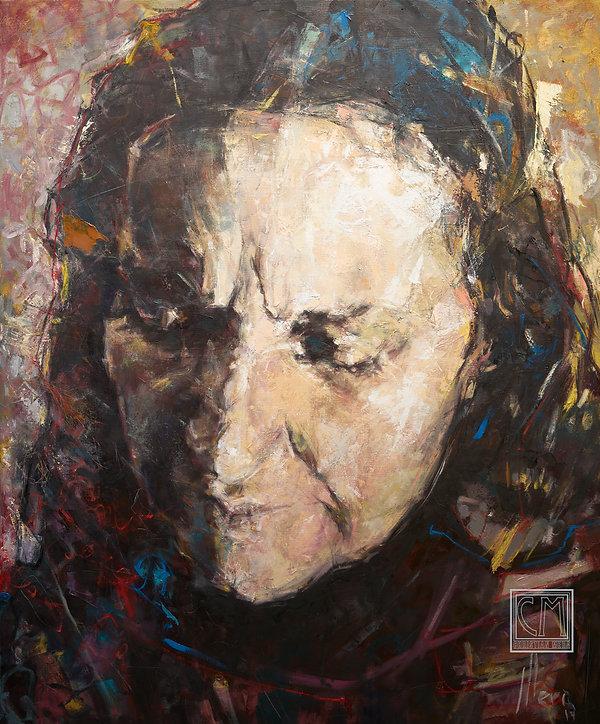 Violeta Parra - painting - Christian Mera - retrato - portrait