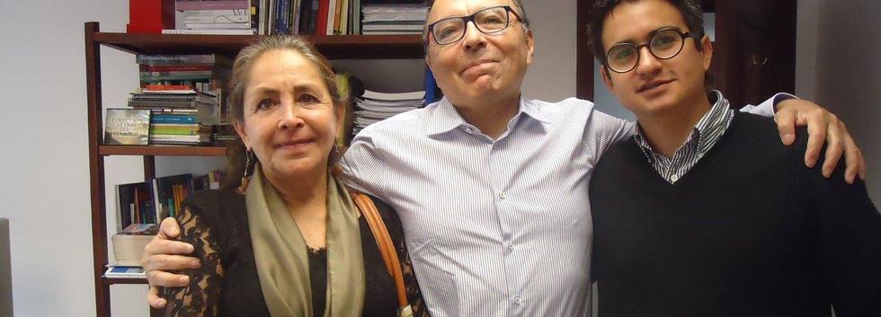 CON VERENICE GUAYASAMÍN Y PATRICIO RIVAS