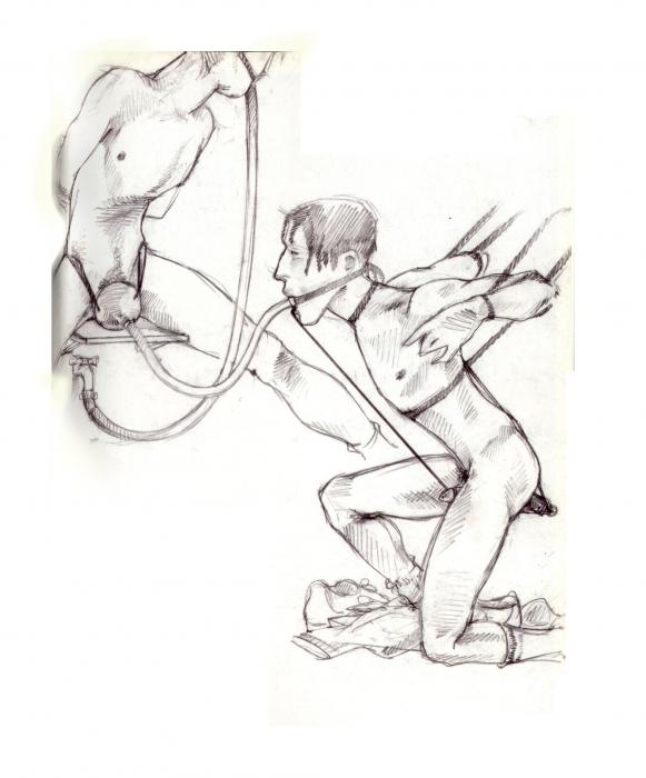 disegno erotico pubblicazione Richardson Magazine