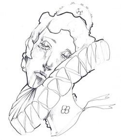 Il principe feroce- Dama morta intrappolata nel proprio abito