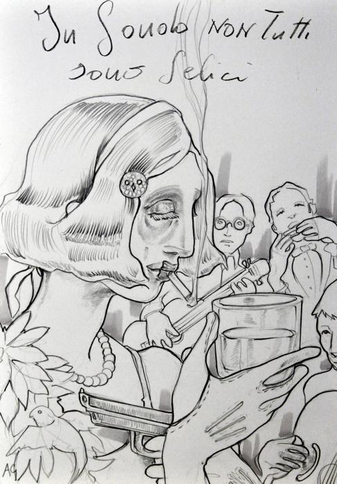 In fondo non tutti sono felici Illustrazione del libro di Matthew Licht