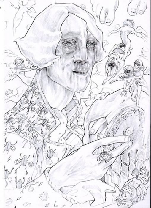 Libertino - il libertino pettina la sua parrucca circondato dai ricordi dei suoi giovani amanti mati