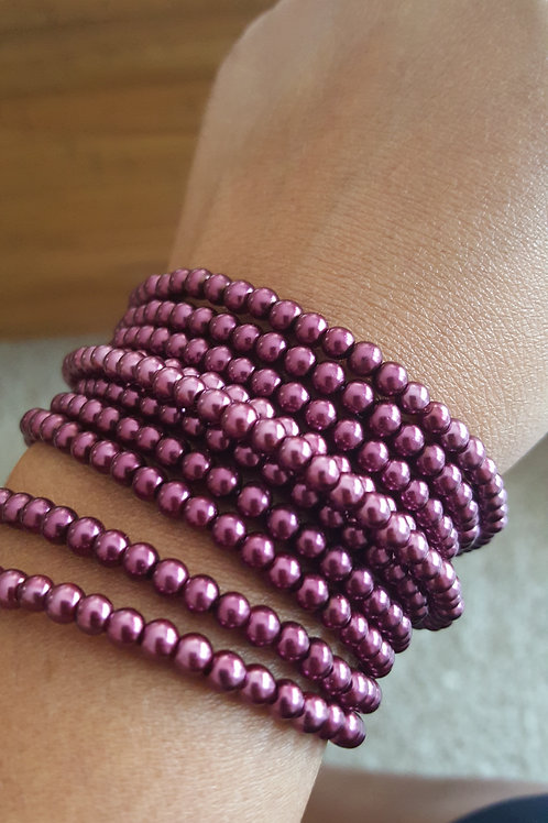 Seed Bead Elastic Necklace/Bracelet
