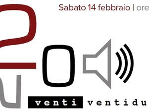 """VENTI VENTIDUE, Sabato 14 Febbraio ore 16:30   live nel """"ViVOLiVE in ME""""  TRS Radio e Magazzino Musi"""
