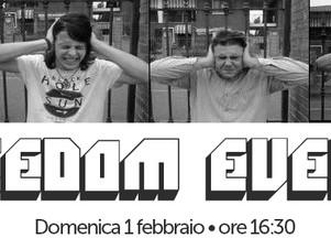 """FREEDOM EVENTS, Domenica 1 Febbraio         ore 16:30   live nel """"ViVOLiVE in ME""""  TRS Rad"""
