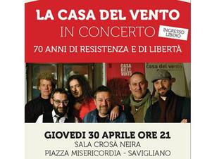 CASA DEL VENTO - Concerto Live organizzato dal comune di Savigliano con TRS Radio e la consulta giov