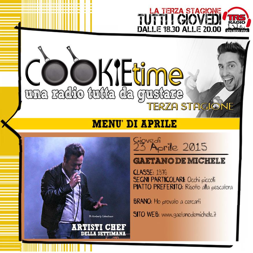 MAttia Garro, artista chef, gaetano de michele, trs radio, cookie time trs radio, matt garro, cucine radiofoniche