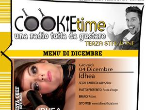 Idhea è l'Artista Chef del Cookie Time di Mattia Garro, on Air su TRS Radio