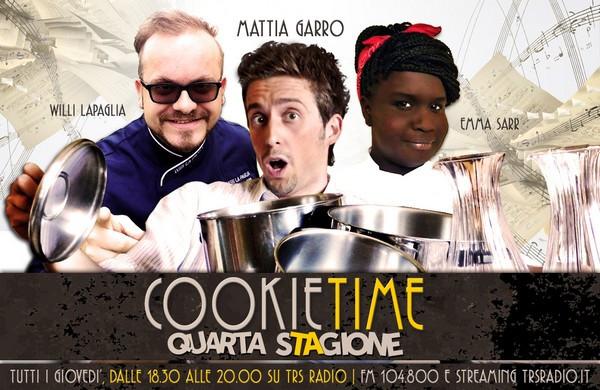 Matti garro e la 4 stagione del Cookie Time su TRS Radio con Emma Sarr e Willi Lapaglia. Radio Cuneo, la cucina in radio!